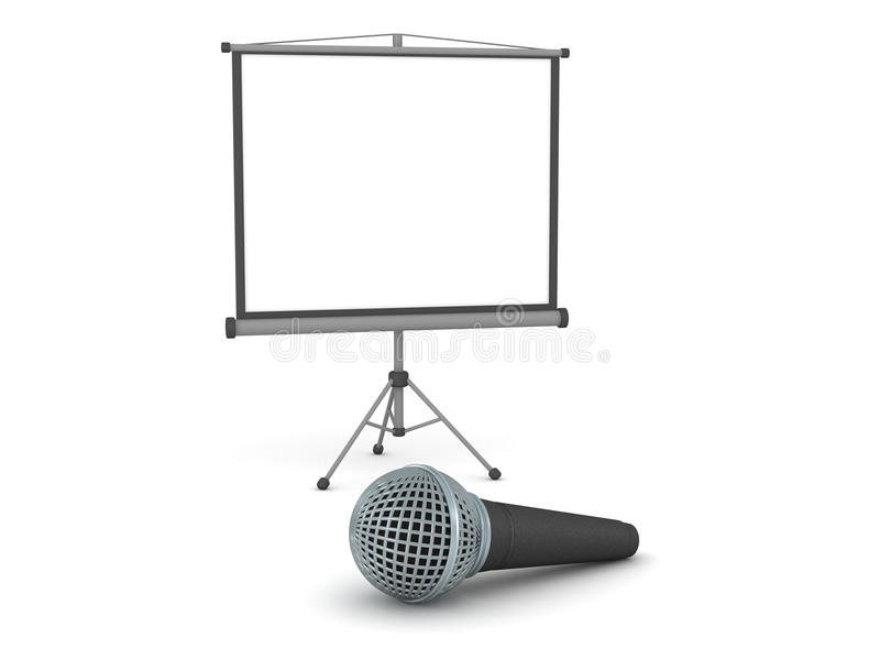 3d projector screen and microphone