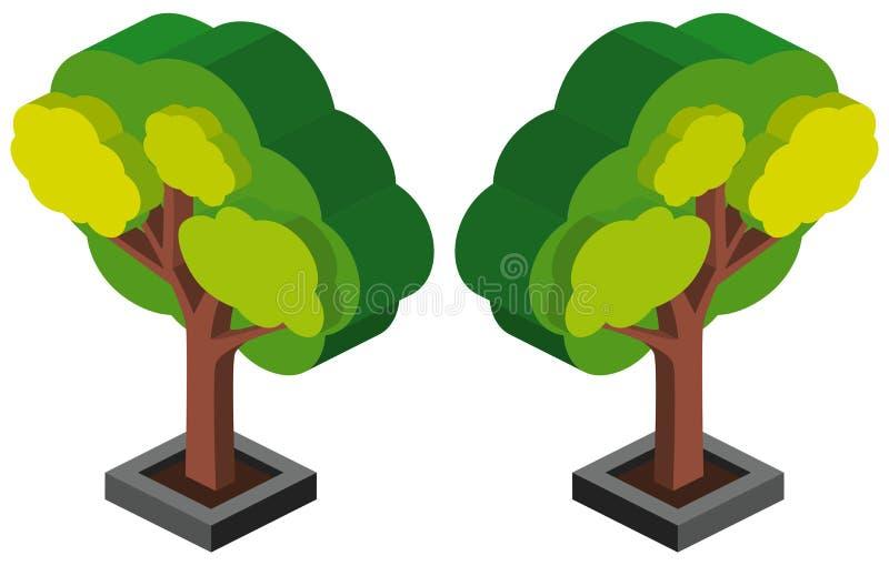 3D projekt dla zielonego drzewa ilustracji