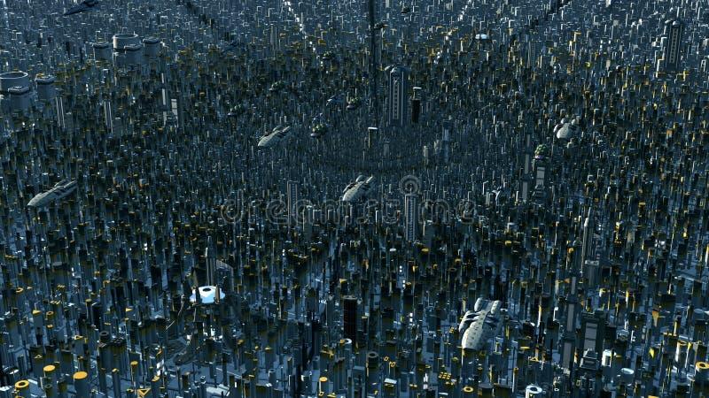 Futurystyczna planeta ilustracji