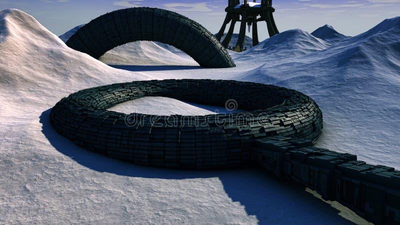 Futurystyczna planeta royalty ilustracja