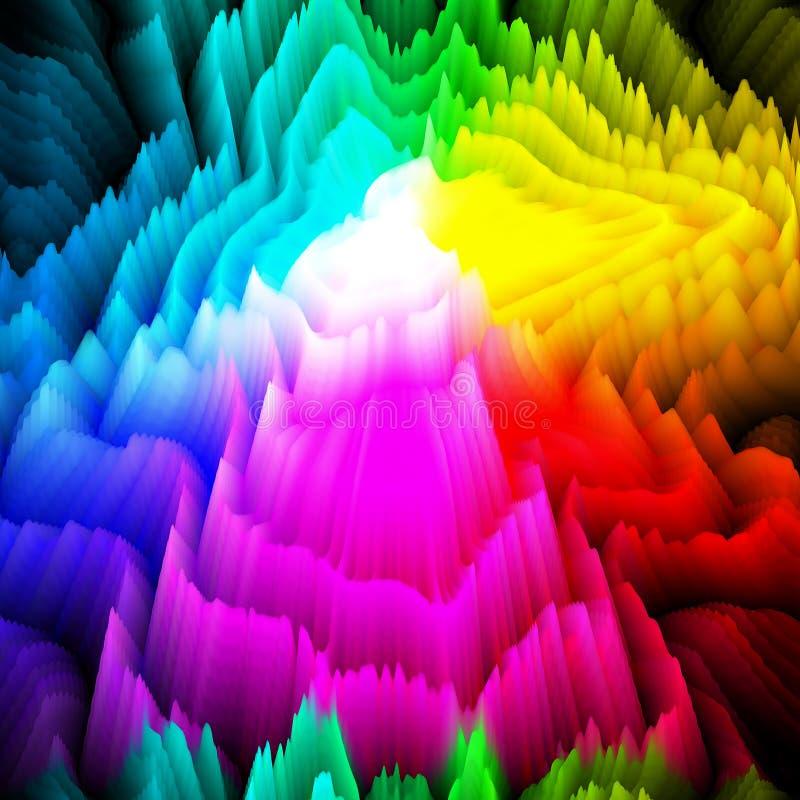 3d projekta graniastosłup barwi tło royalty ilustracja
