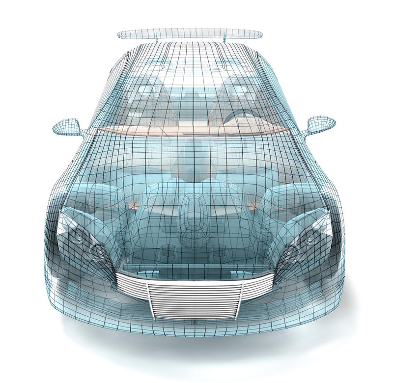 3d projekta samochodowy model mój druty odpłaca się drut royalty ilustracja