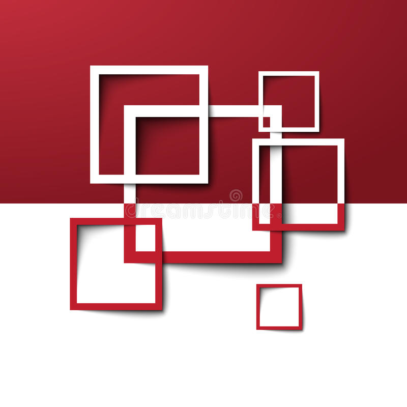 3d prostokąta projekta szablon ilustracja wektor