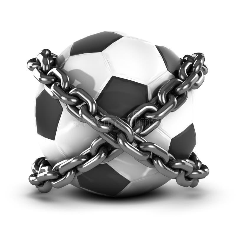 Download 3d Przykuwający futbol ilustracji. Ilustracja złożonej z zakazujący - 41955316