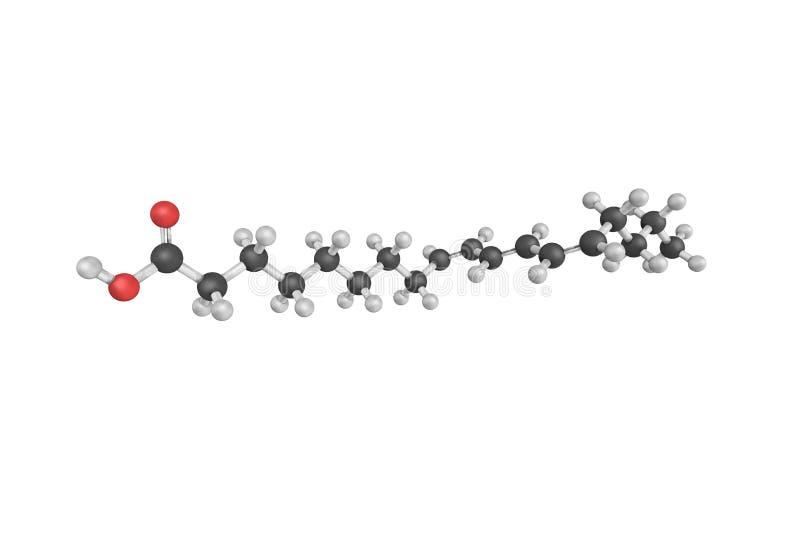3d Punicic酸结构也叫trichosanic酸 向量例证