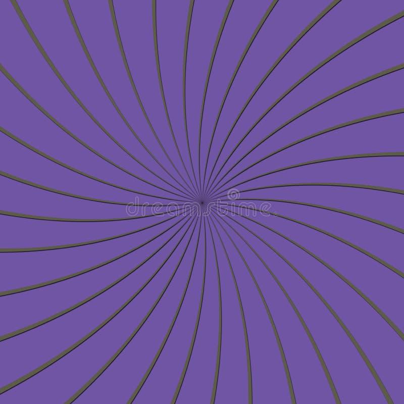 3D Purple en Grey Thin Striped Circle Pinwheel vector illustratie