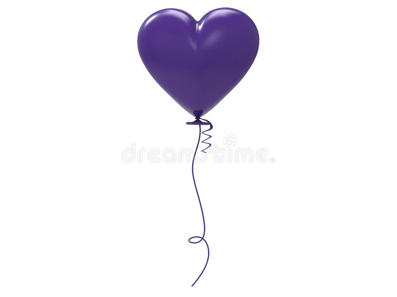 3D purpur balonu ilustracyjny serce royalty ilustracja