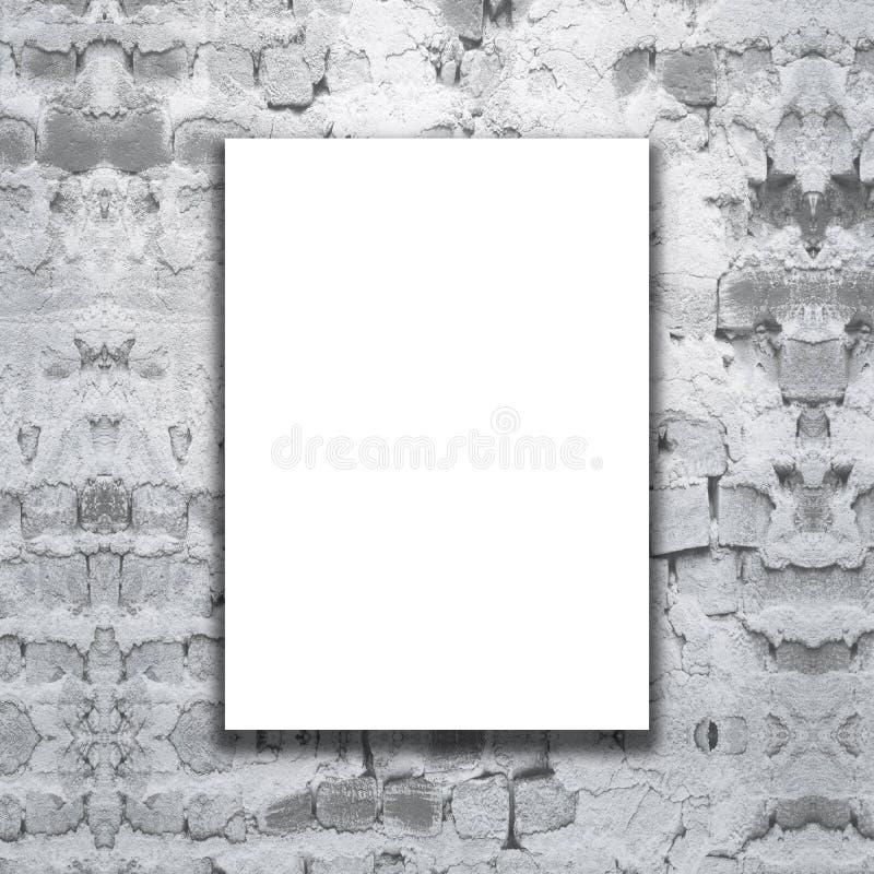 3D pusta kanwa na grunge ściana z cegieł royalty ilustracja