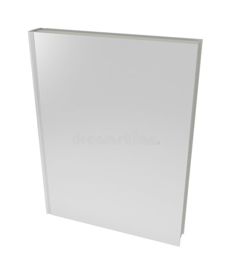 3D pusta książkowa pokrywa nad białym tłem ilustracja wektor