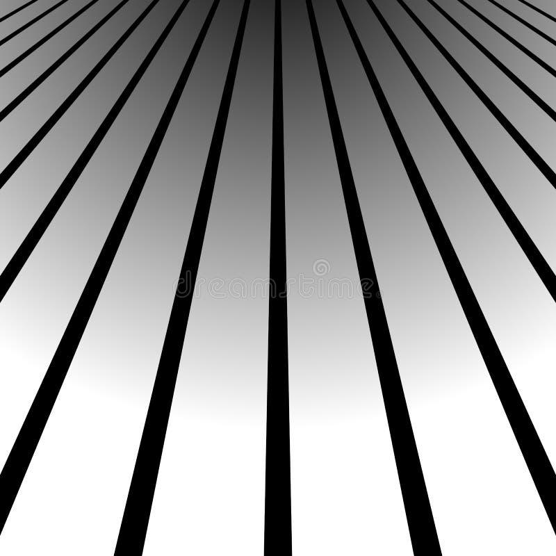 3d que desaparece, líneas convergentes Espacio espacial, líneas del enfoque, persp libre illustration