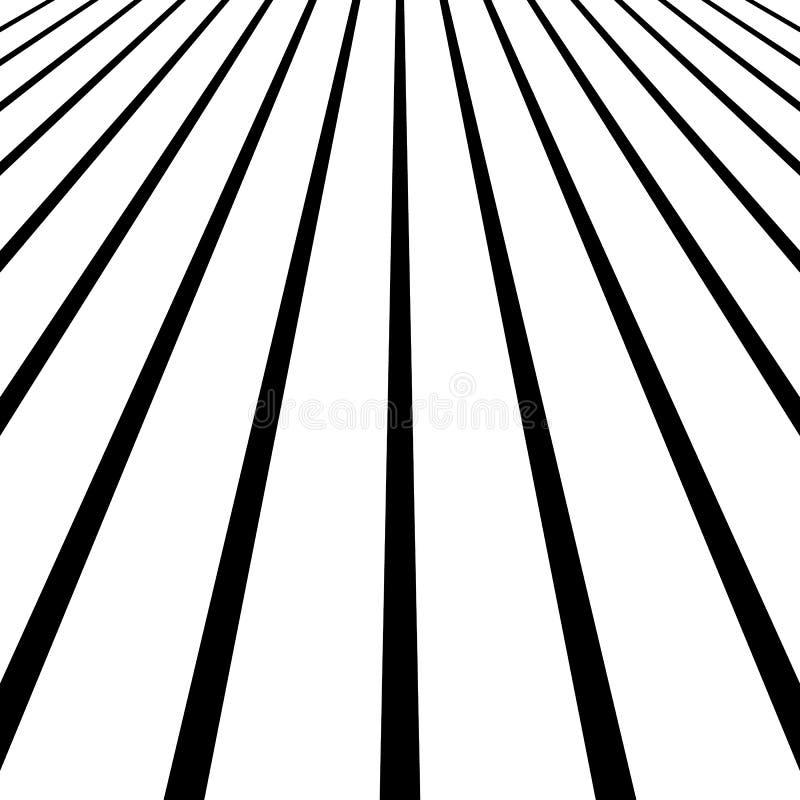 3d que desaparece, linhas convergentes Espaço espacial, linhas do zumbido, persp ilustração royalty free