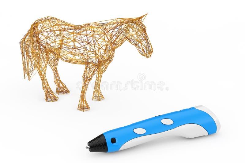 3d que imprime a Pen Print Abstract Horse representación 3d libre illustration