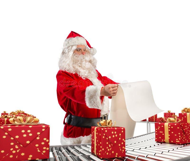 3D que rende a fábrica de Papai Noel fotografia de stock royalty free