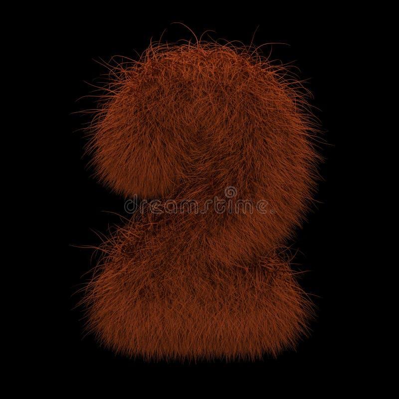 3D que rende a ilustração criativa Ginger Orangutan Furry Number 2 ilustração royalty free