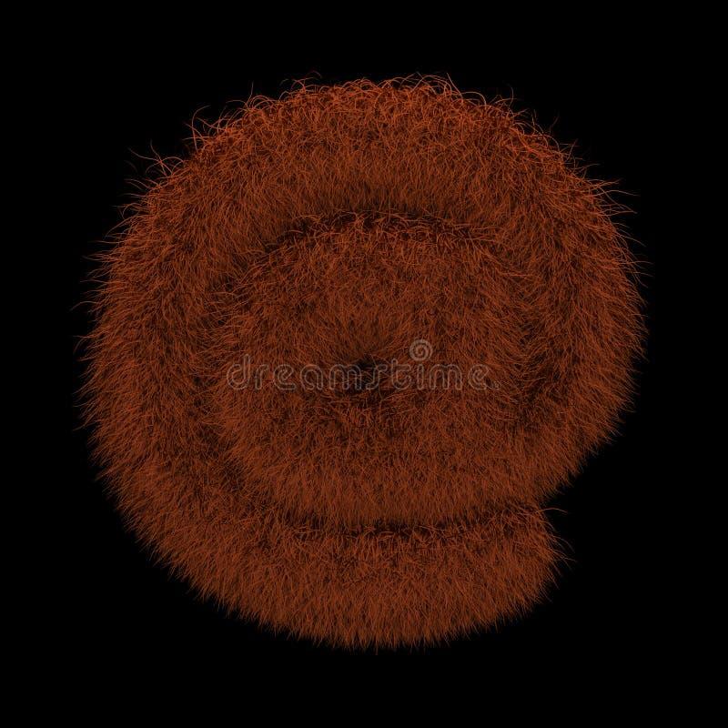 3D que rende a ilustração criativa Ginger Orangutan Furry Symbol At ilustração do vetor