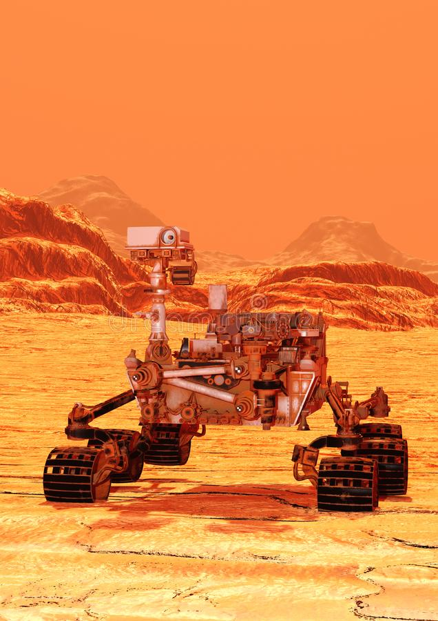 3D que rende Marte Rover ilustração do vetor