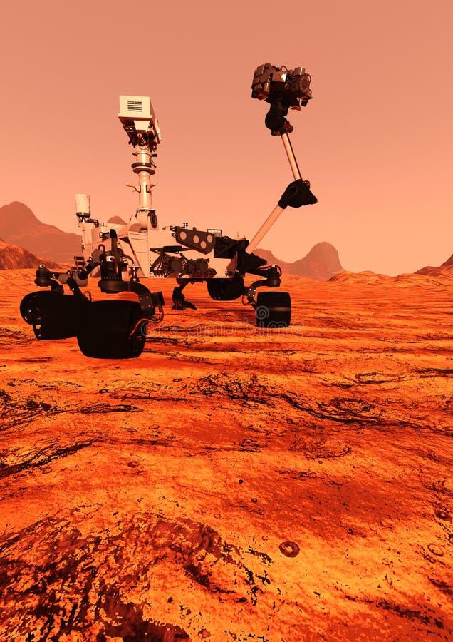 3D que rende Marte Rover ilustração royalty free