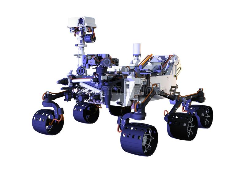 3D que rende Marte Rover no branco ilustração do vetor