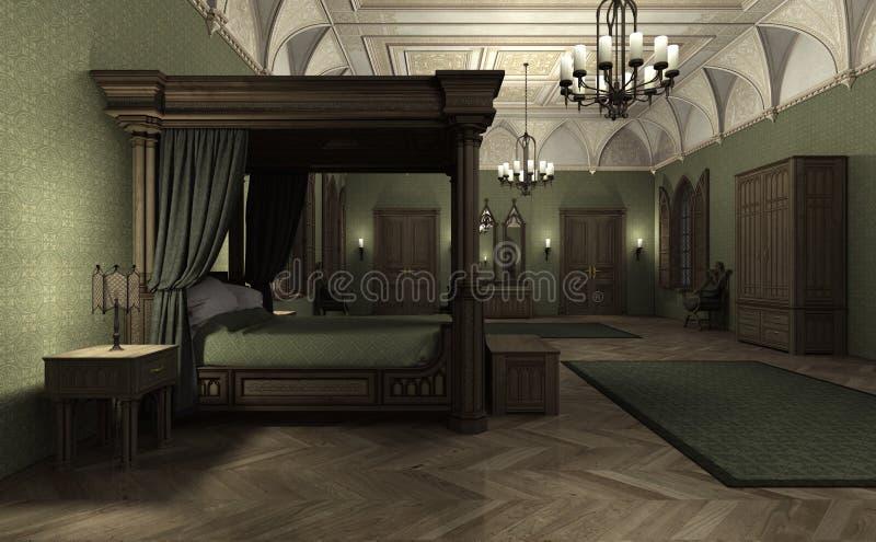 3D que rende o palácio escuro ilustração stock