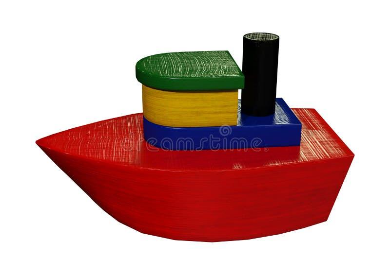 3D que rende Toy Boat no branco ilustração stock
