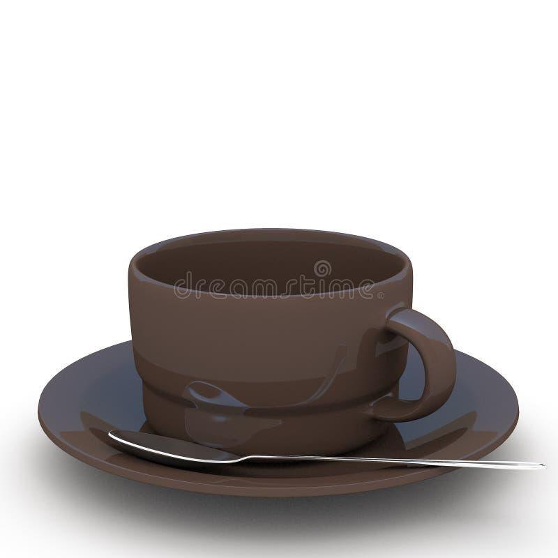 3d que rende a xícara de café ilustração royalty free