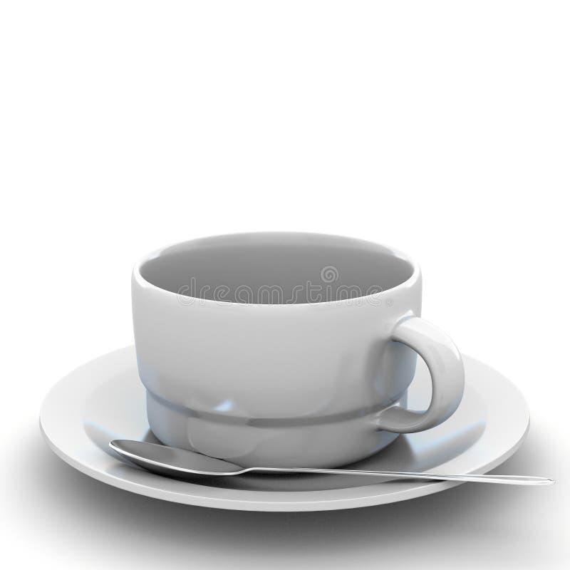 3d que rende a xícara de café ilustração do vetor