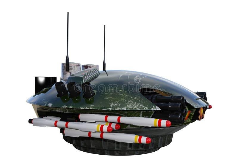 3D que rinde el abejón de la ciencia ficción en blanco libre illustration