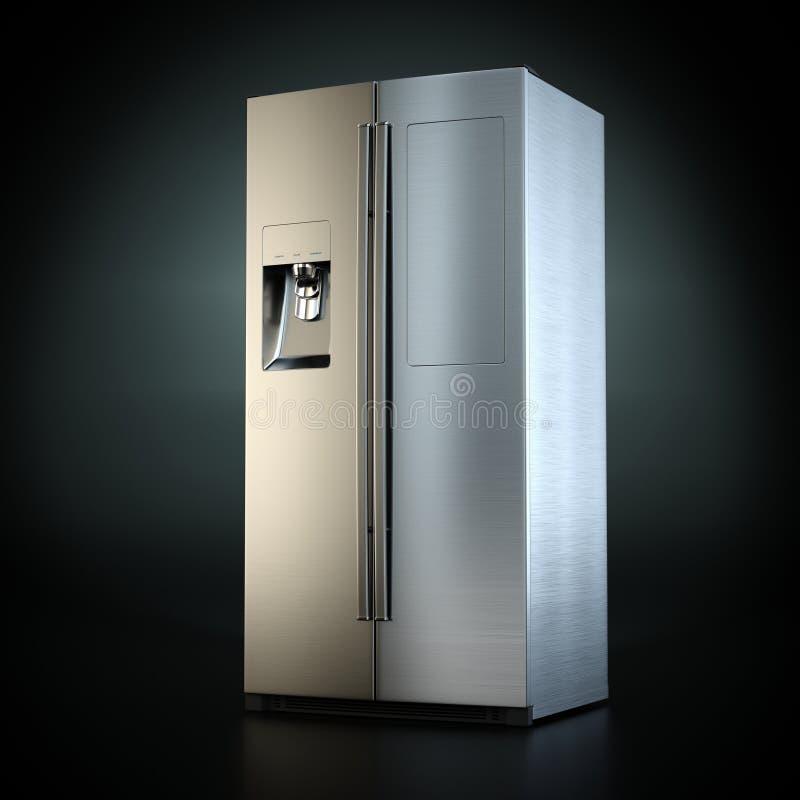 3D que rinde el refrigerador grande ilustración del vector