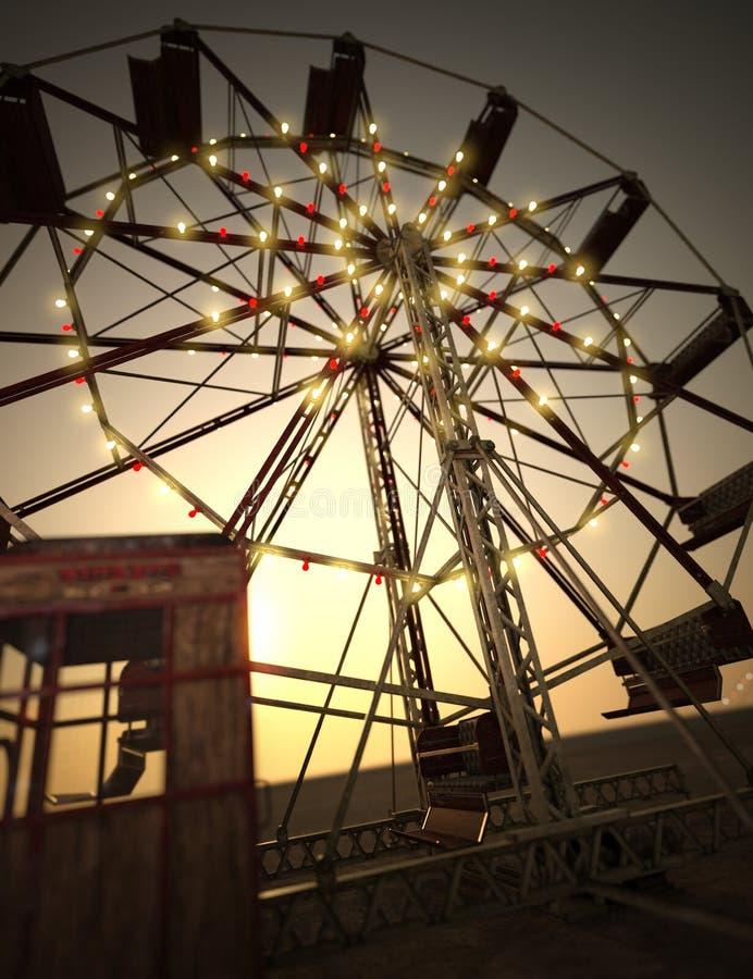 3D que rinde a Ferris Wheel libre illustration