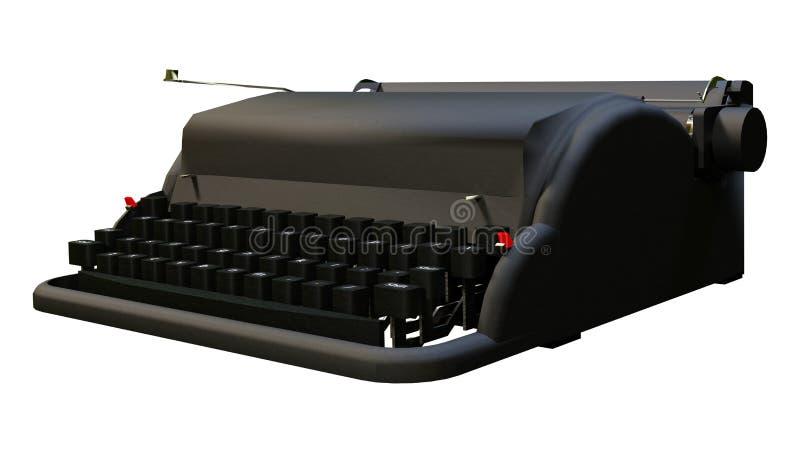 3D que rinde la máquina de escribir retra en blanco libre illustration