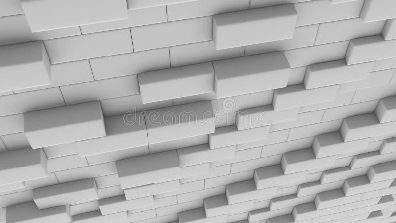 3D que rinde las cajas abstractas, diseño de concepto del ejemplo libre illustration