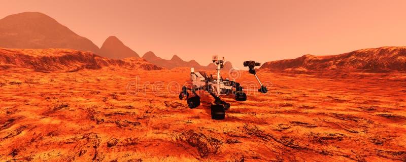 3D que rinde Marte Rover imágenes de archivo libres de regalías