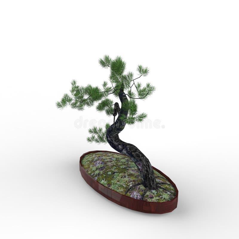 3d que rinde un bonsai creado usando una herramienta de la licuadora ilustración del vector