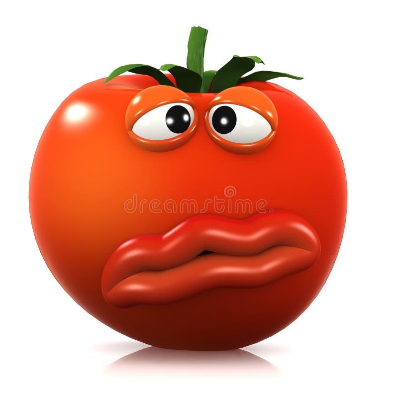 3d Queasy pomidor royalty ilustracja
