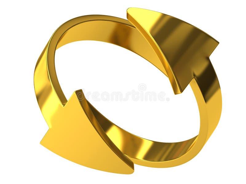 D'or réutilisez le signe illustration libre de droits