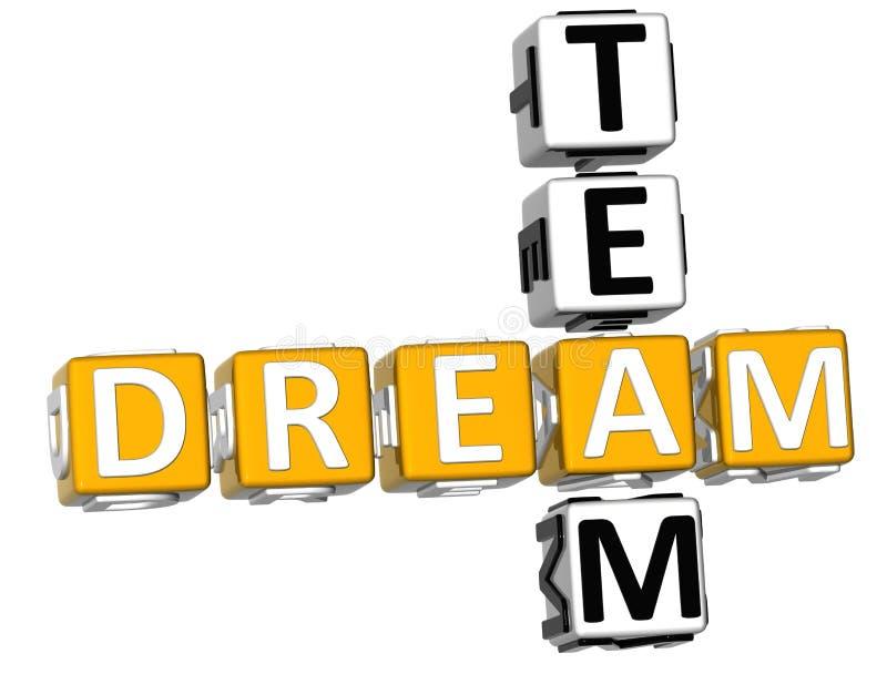 3D rêve Team Crossword illustration libre de droits