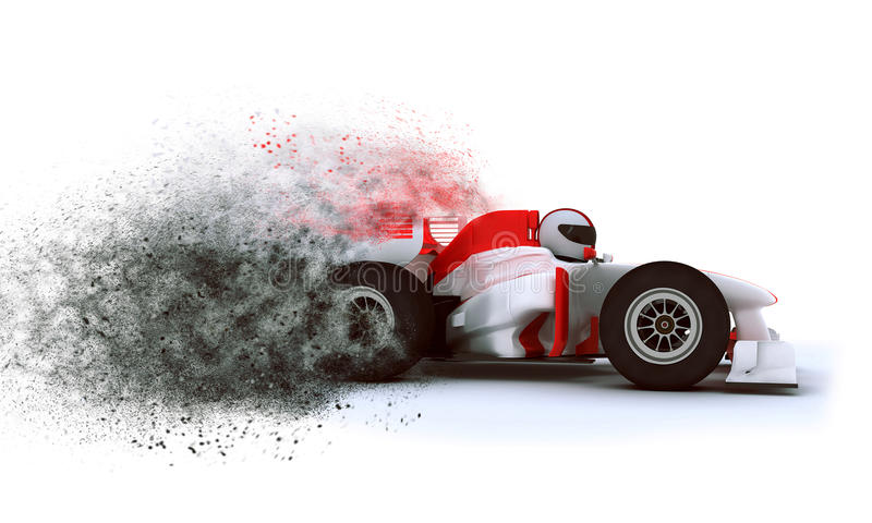 3D Racing card with speed effect royalty free illustration
