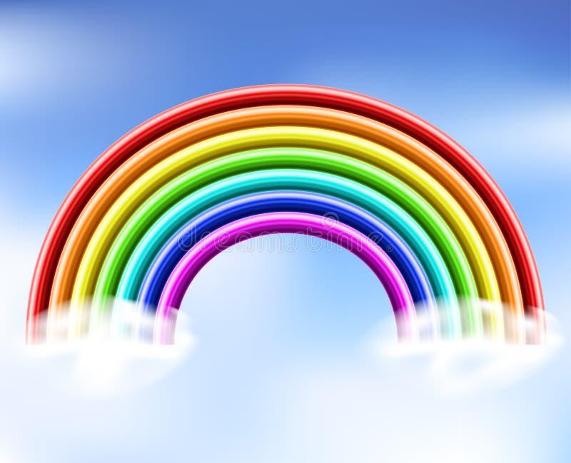 3d Rainbow In The Sky Stock Vector. Illustration Of Orange