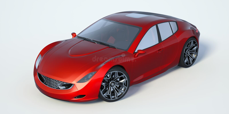 3D rappresentazione - automobile generica di concetto royalty illustrazione gratis
