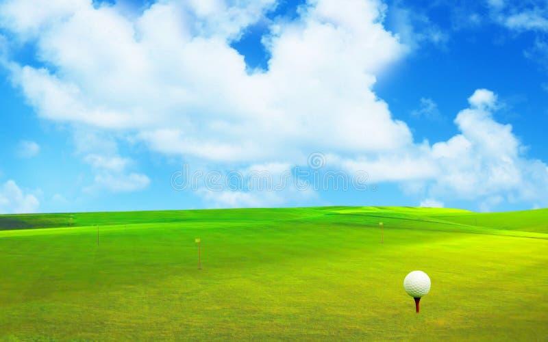 3D rappresentazione, palla da golf, fotografie stock