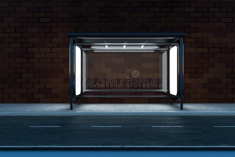 3d rappresentazione, tabellone per le affissioni di pubblicit? dal lato della strada illustrazione di stock