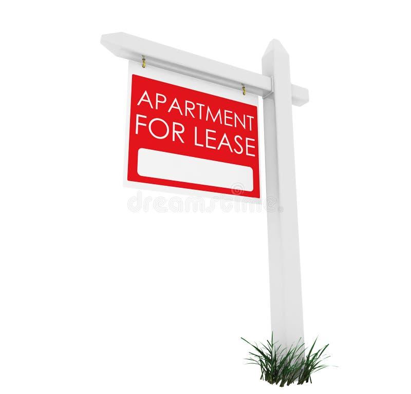 3d: Real Estate znak: Mieszkanie dla arendy ilustracja wektor