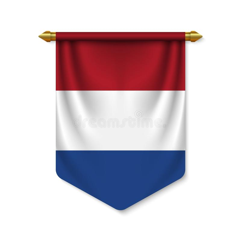 3d realistyczna banderka z flag? ilustracja wektor