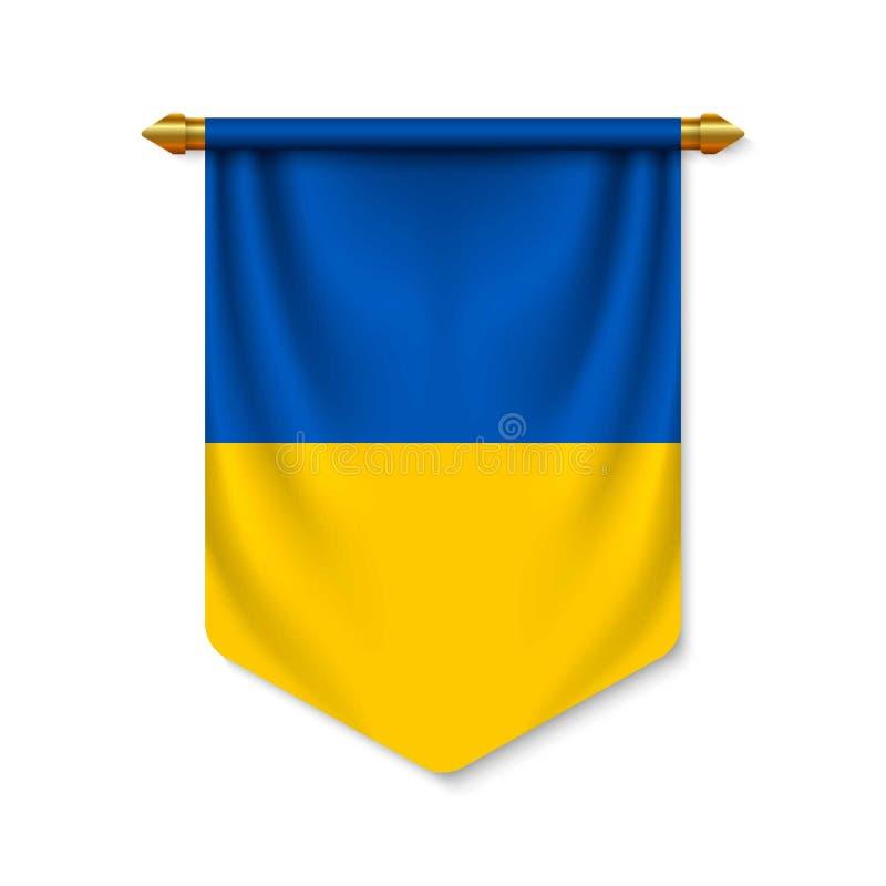 3d realistyczna banderka z flag? royalty ilustracja