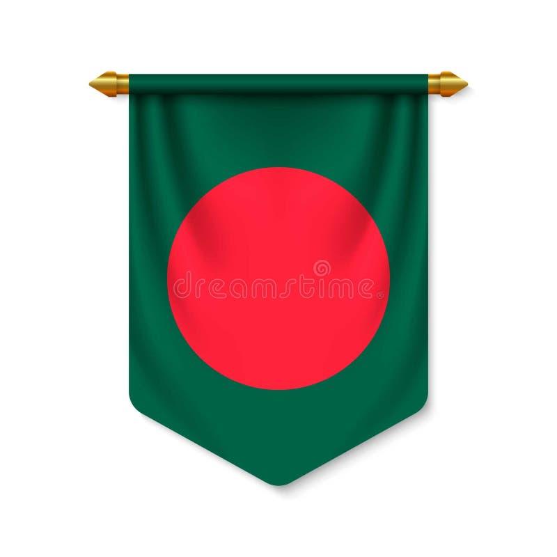 3d realistyczna banderka z flagn ilustracji
