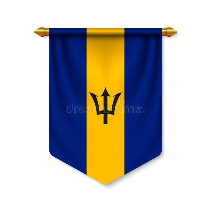 3d realistyczna banderka z flagn royalty ilustracja