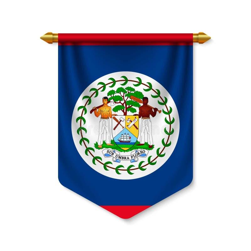 3d realistyczna banderka z flagn ilustracja wektor
