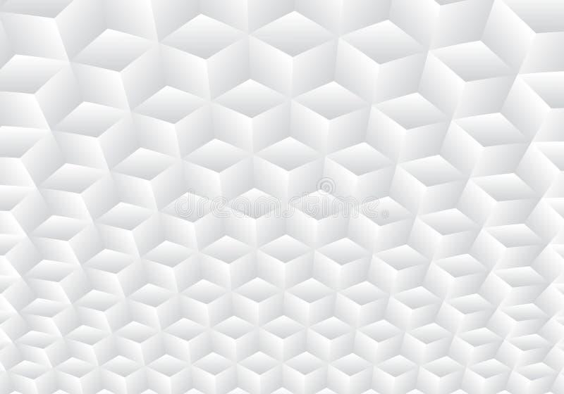 3D realistycznej geometrycznej symetrii biali i szarzy gradientowi kolor?w sze?ciany deseniuj? t?o i tekstur? ilustracji
