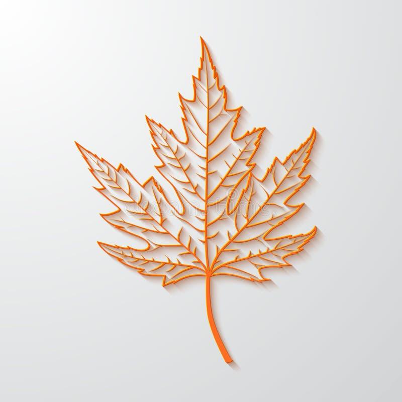 3d realistyczny liść klonowy amerykanin dekoruje projekta patriotycznych ustalonych symboli/lów wektorową wersję royalty ilustracja