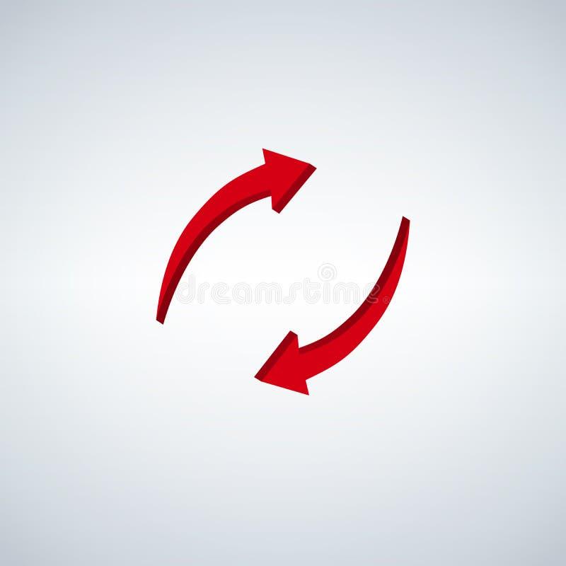 3d reciclam setas Recicl o símbolo ilustração stock